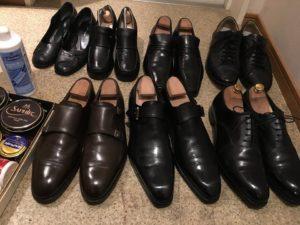 磨かれた5万円以上する革靴たち